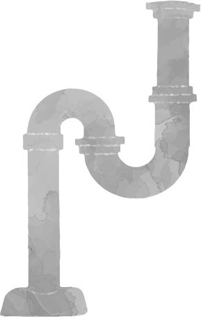 排水管 S字トラップ汚れ