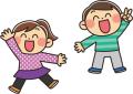 喜ぶ子供たち